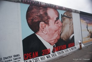 The Berlin wall