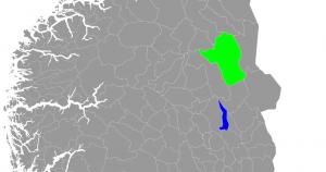 Et grønt Rendalen (Norges største kommune utenfor Finnmark) og Hamar.