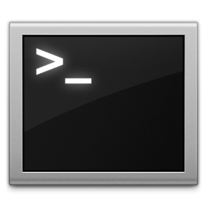 The mac terminal icon